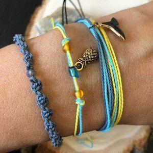 Multilayers braided summer handmade bracelet set 3
